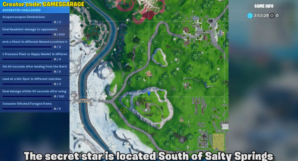 week 5 secret star map location