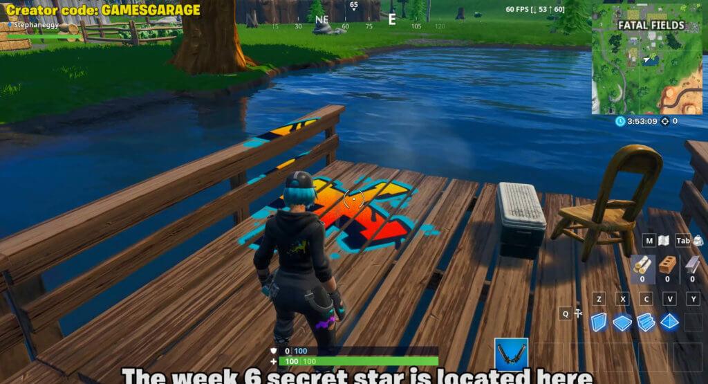 week 6 secret star location in fatal fields