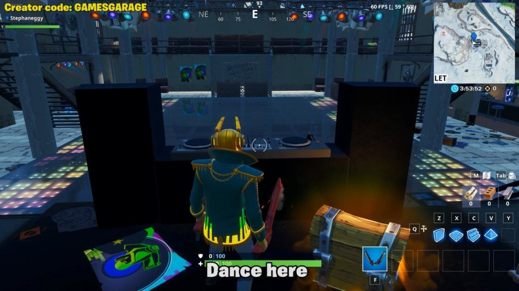 Fortnite DJ Booth location - the DJ booth